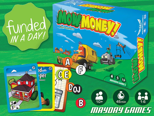Mow Money REVERSE AUCTION A Game of Undercutting 1-6 Players by Seth Hiatt — Kickstarter