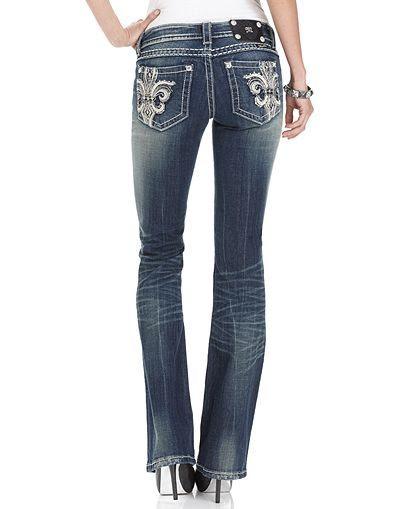 Miss Me Bootcut Fleur de Lis Jeans