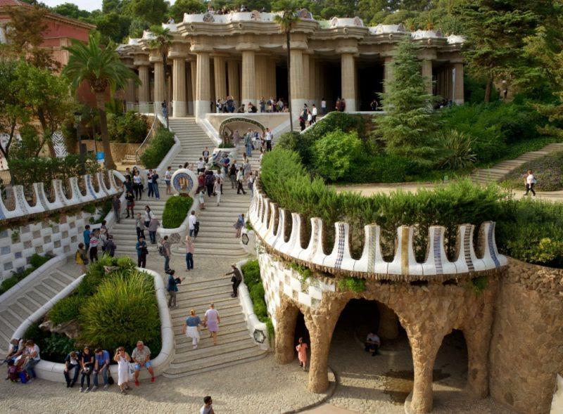 Park Guell Barcelona Spain 800x589