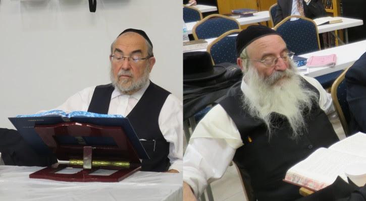 In this Feb 2016 Yitzchak Rosenberg (L),  studying Talmud In Masada Apt. in Miami Beach, Chaim Parnes in Kerestir Synagogue in Miami Beach(R)  (Hershey Rubenstein/VINnews.com)