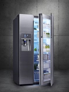 Samsung Food Showcase refrigerator. So you can look in the fridge without letting the cold out! Genius!!