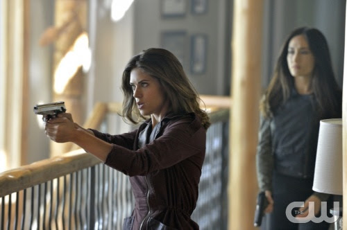 "Nikita -- ""Canceled"" -- Image NK406a_0006 -- Pictured (L-R): Lyndsy Fonseca as Alex and Maggie Q as Nikita -- Credit: Ben Mark Holzberg/The CW -- © 2013 The CW Network. All Rights Reserved"