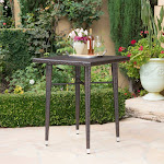 Christopher Knight Home Dominica Outdoor 32-Inch Square Wicker Bar Table by Multibrown