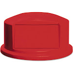 Rubbermaid Round BRUTE Dome Top with Push Door 24.81w x 12.63h Red FG264788RED