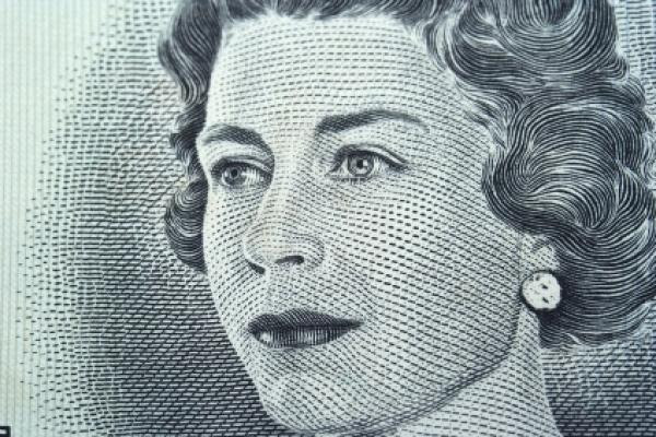 Picture of a young Queen Elizabeth II
