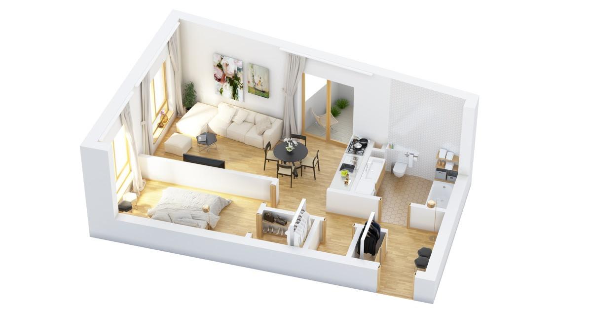 one-bedroom-floor-plan | Interior Design Ideas.