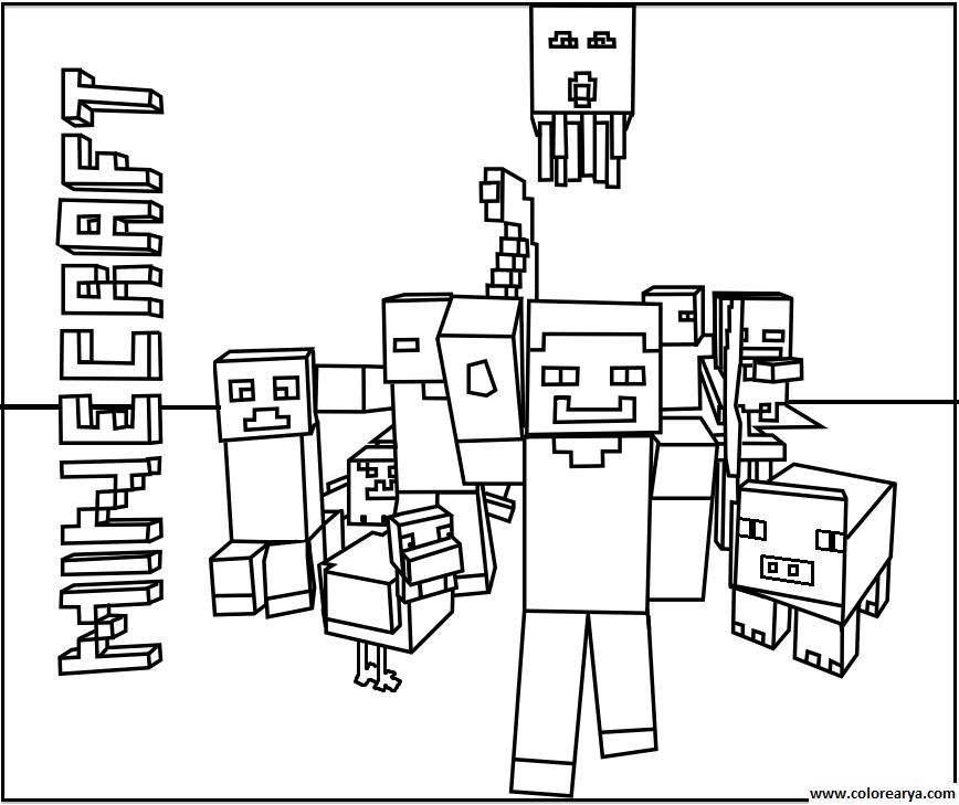 Dibujos Para Colorear E Imprimir De Minecraft | Dibujos I ...