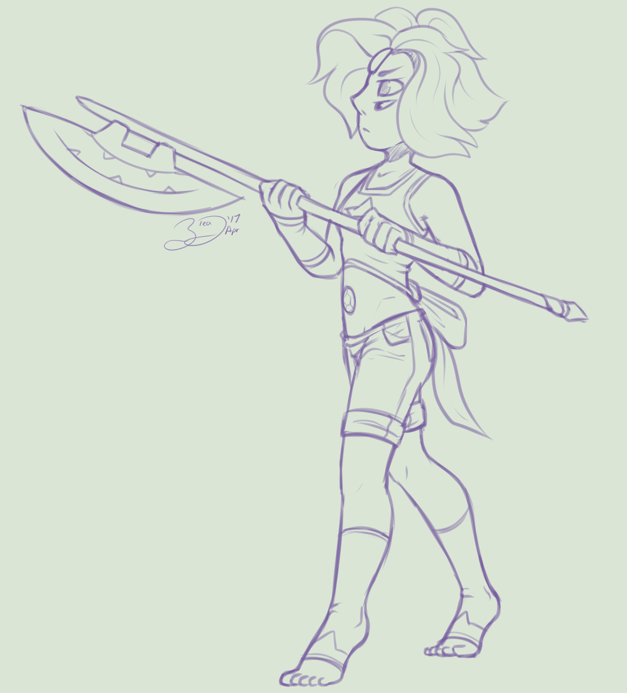 AMD #17 - Rainbow Quartz [Steven and Pearl] Rainbow Quartz is a favorite of mine, she's an interesting gem, I really do think her having a long battle axe makes sense… XD 1. Alexandrite 2. Bismuth 3....