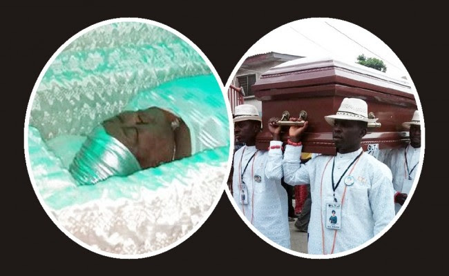Henrietta kosoko dead body at her memorial wake keeping burial ceremony in lagos