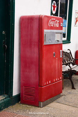 Coca Cola Machine at Vintage Texaco Station, Independence, Wisconsin