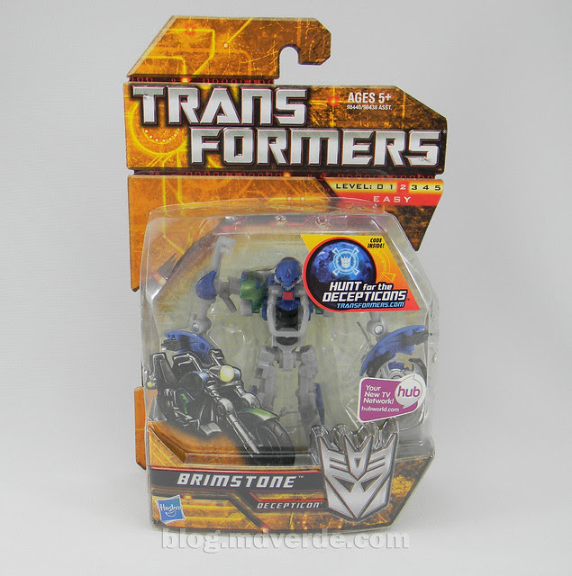 Transformers Brimstone Hunt for the Decepticons Scout - caja