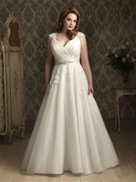 Modest Plus Size Cap Sleeves Wedding Dress Bridal Gowns