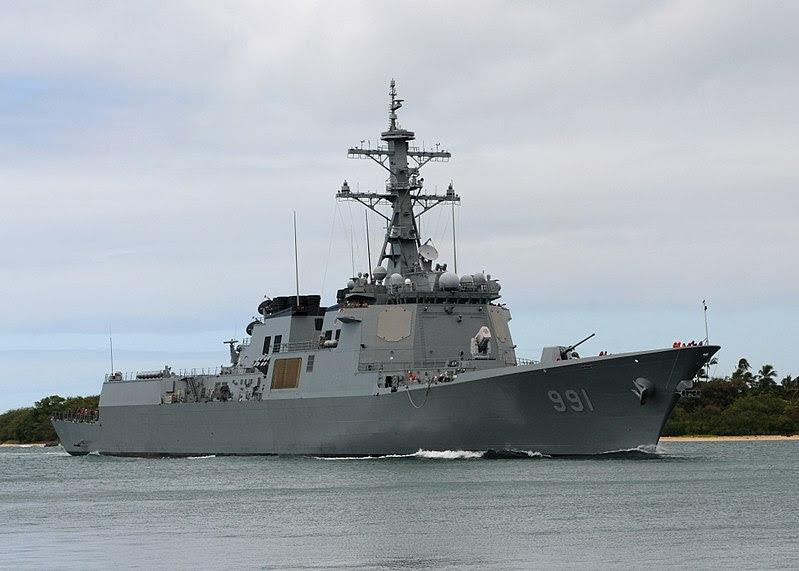 ファイル:US Navy 100730-N-8539M-181 The Republic of Korea Navy guided-missile destroyer ROKS Sejong the Great (DDG 991) returns to Joint Base Pearl Harbor-Hickam after participating in Rim of the Pacific (RIMPAC) 2010 exercises.jpg
