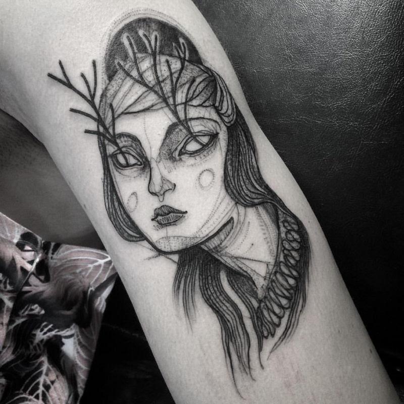 As tatuagens que parecem esboços de desenhos a lápis, por Nomi Chi 03