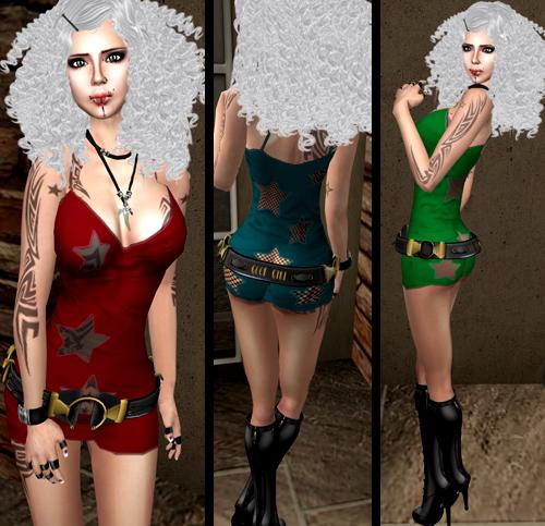 NEW! >>> moloko <<< Star Mini Dress