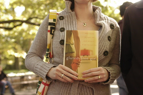 someone holding my book at Central park