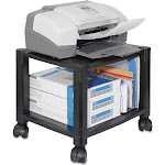 Kantek - Mobile Printer Stand, Two-Shelf, 17W x 13-1/4d x