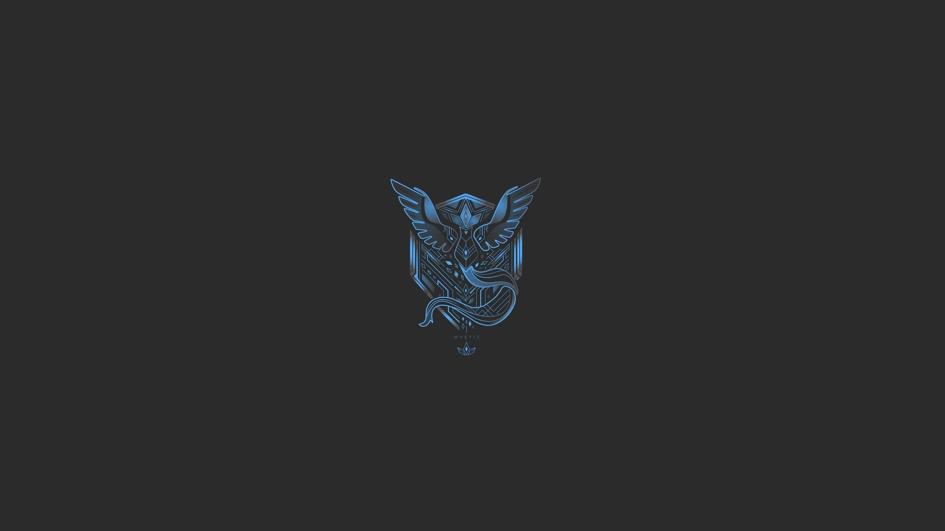 Wallpaper Pokemon Go Team Mystic Logo Wallpapermaiden