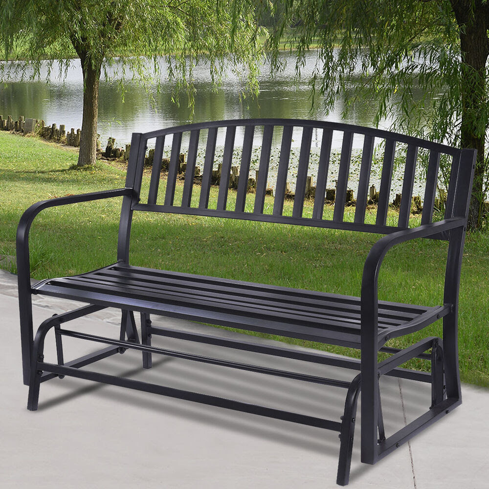 Outdoor Patio Leisure Swing Rocker Glider Bench Loveseat ...