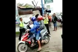 Gara-gara Enggak Mau Ditilang Polisi Malah Jadi Begini