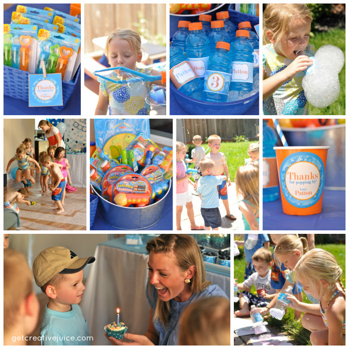 My Parties Bubble Birthday Party 2 Creative Juice