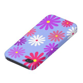 Daisy iPhone Case for iPhone 4 in Blue