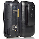 Sonim XP3 Holster, Nakedcellphone Black [Rotating/Ratchet] Belt Clip Holder Case [with Kickstand] for Sonim XP3 Flip Phone (XP3800)