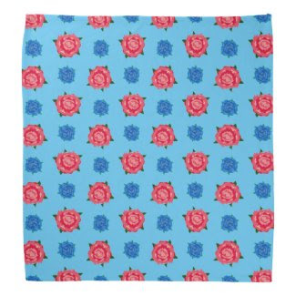 Blue and Pink Breakout Pattern on Bandana
