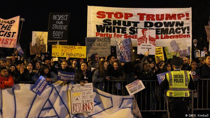 Image result for Trump Protests in Chicago