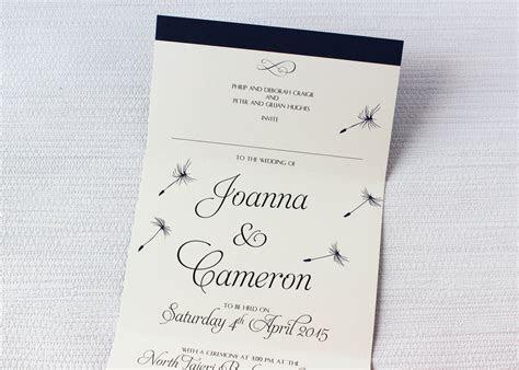 Dandelion Dreams Concertina Wedding Invitations   Be My Guest