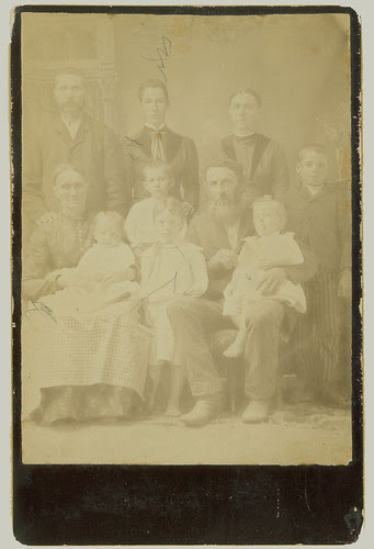 Cabinet Card Family of Ten
