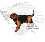 Otterhound Dog Yard Art Woodworking Pattern - fee plans from WoodworkersWorkshop® Online Store - Otterhound Dog,dogs,pets,animals,yard art,painting wood crafts,scrollsawing patterns,drawings,plywood,plywoodworking plans,woodworkers projects,workshop blueprints