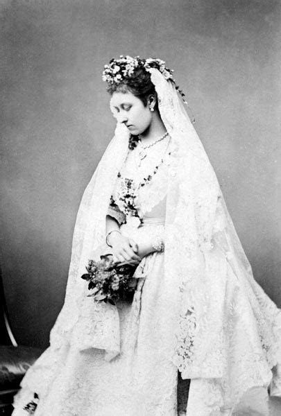 The Princess Louise, Duchess of Argyll, in her wedding