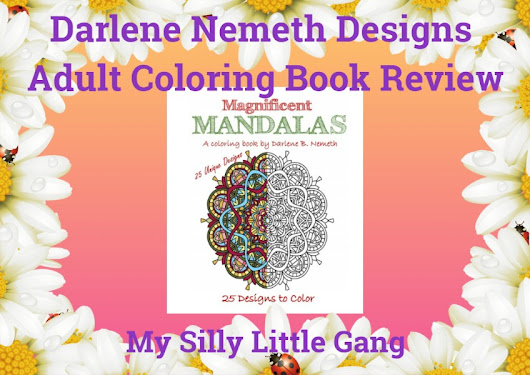 Darlene Nemeth Designs Adult Coloring Book Review - My Silly Little Gang