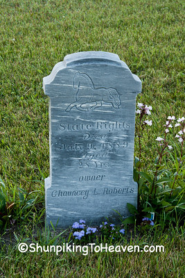Gravestone of Horse Named State Rights, Died 1889, Columbia County, Wisconsin