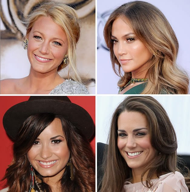 Blake Lively, Jennifer Lopez, Demi Lovato e Kate Middleton já aderiram ao gloss. Fotos: GettyImages.