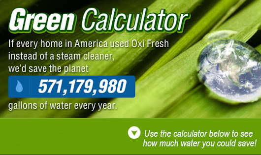 Saving Water Calculator Green Carpet Cleaning | Oxi Fresh