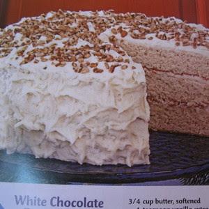 (taste of home ) white chocolate banana cake   Recipe
