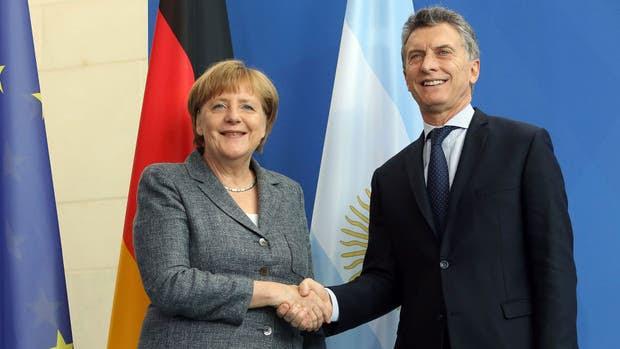 Macri y Merkel, el año pasado, en Berlín