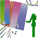 Evelots Recycled Paper Beads Kit, Bead Making Kit 3460