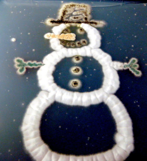 This awesome little snowman made of fungi was grown in a petri dish by the same playful scientists at theJ. Craig Venter Institutein Rockville, Maryland who grew the colourfulfungal Christmas trees we posted about recently. [viaGeekologie]