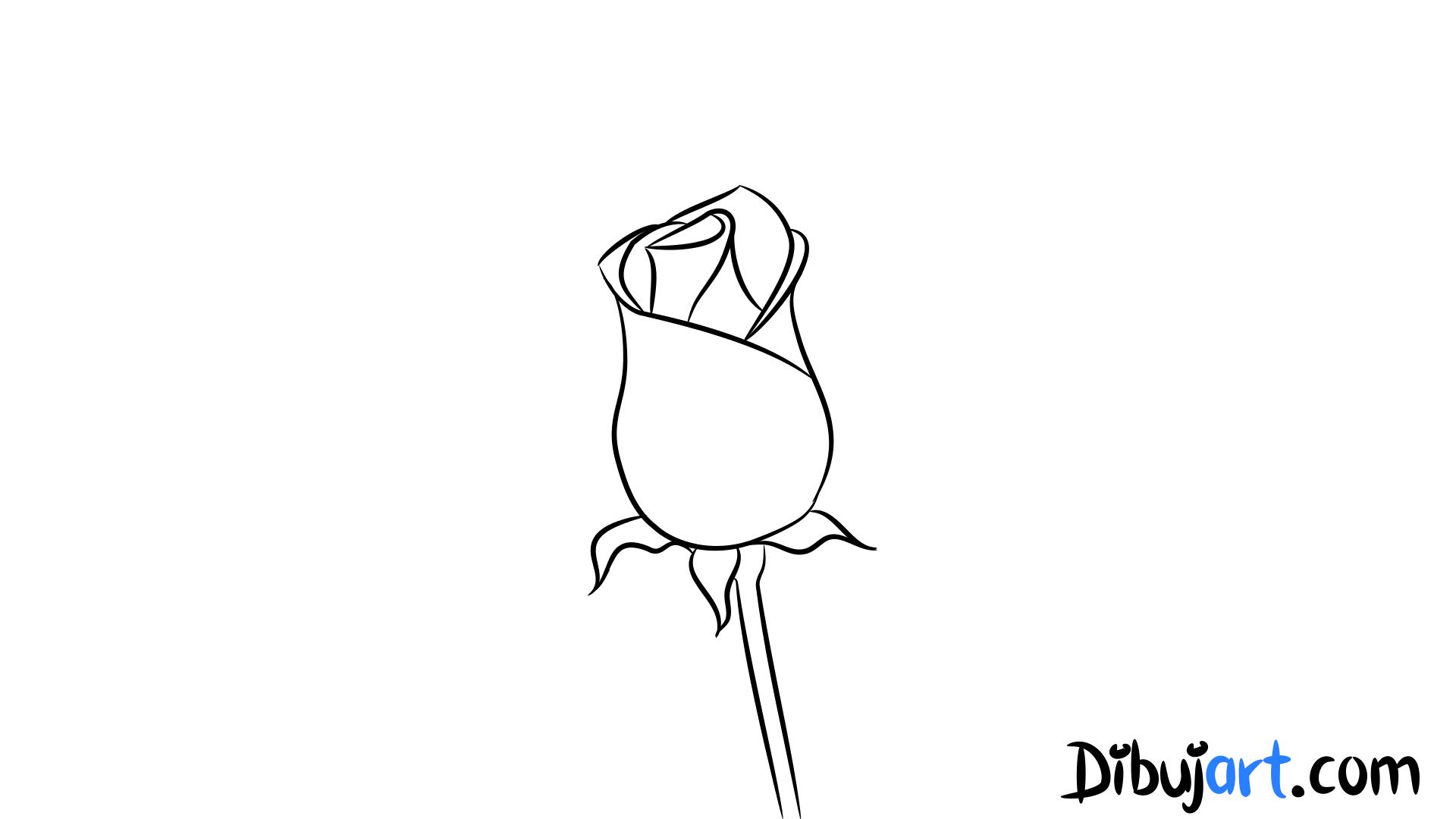 Cómo Dibujar Una Rosa Roja Romántica 5 Dibujos De Rosas Rojas