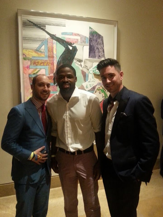 JBD Clothiers | Premium Men's Custom Clothing |   After Preakness party with Torrey Smith and Tony Bennett dressed in JBD!