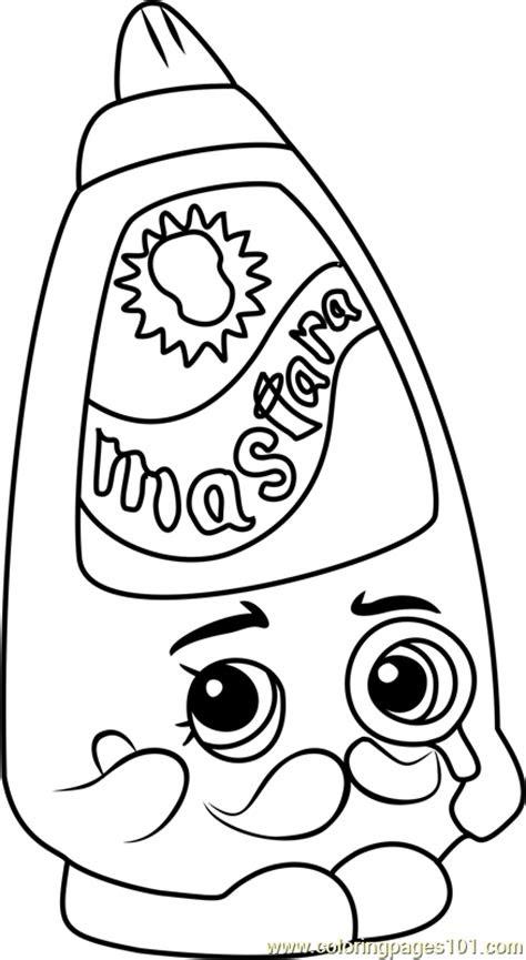 cornell mustard shopkins coloring page  shopkins