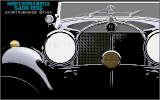 Mercedes Benz 540K by Bjorn Rybakken - Amiga Graphics Archive