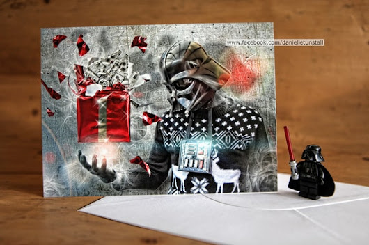 A5 Darth Vader Christmas Card/ or blank by DanielleTunstallShop