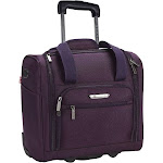 Travelers Club Unisex Underseater USB Port Carry-On Luggage, Purple, 15""