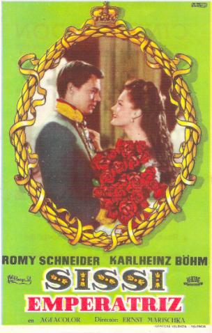 Póster de la película histórica romántica Sissi