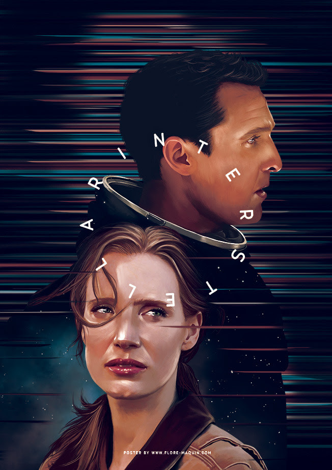Interstellar Poster by Flore Maquin