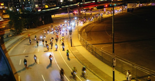 HUB Cycling's Bike the Night lights up Vancouver roadways on September 15